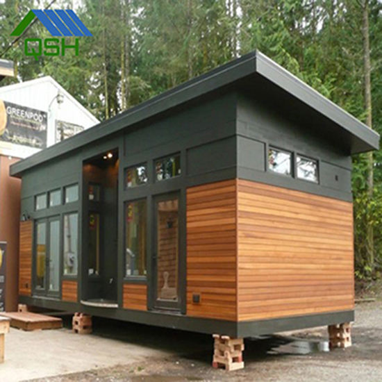 prefabricated two-storey wooden house