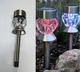 China diamond imitation glass home garden solar light yard decorative stick lamp