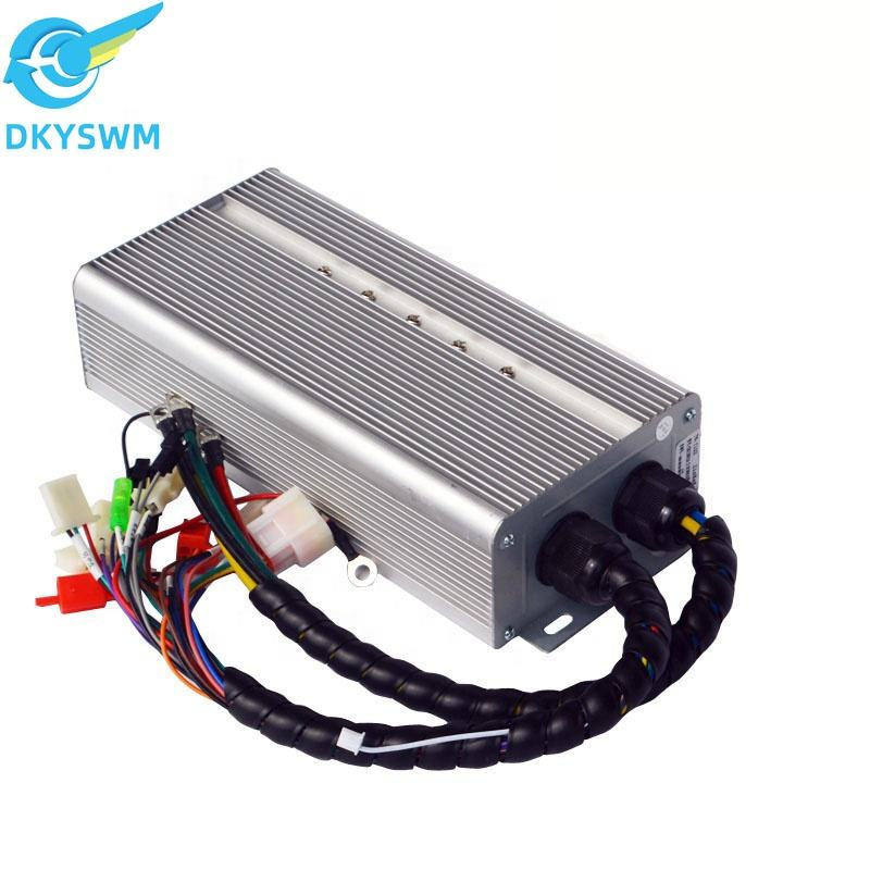 WholesaElectric motorcycle accessories brushless dc scooter square wave controller 48V60V72V80A24 tube 2900W electric motorcycle