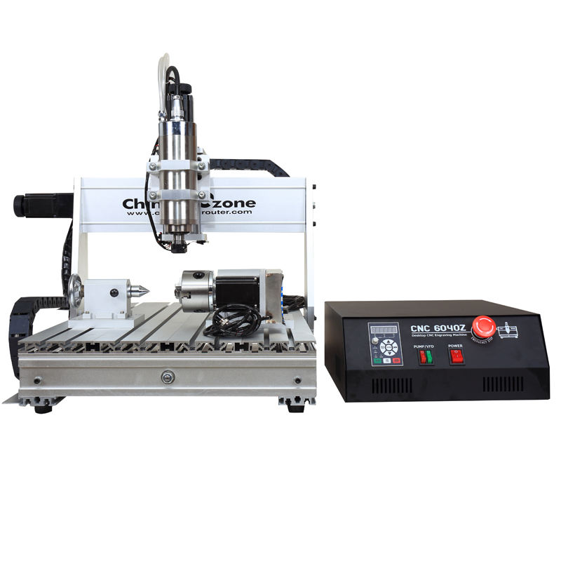 China hobby gebruikt cnc draaien center mini 6040 4 axis router