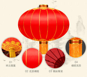 High Quality Chinese Big Red Fabric Lantern For Spring Festival