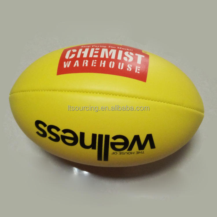 Natural Official Size Standard High Quality Custom Australian Rules Football/AFL Ball