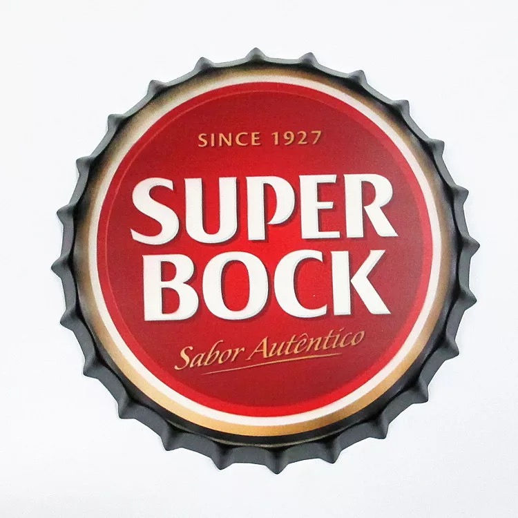 Super Clock Beer Bottle capsule Metal Tin Signs Beer Cafe Bar Decoration Plates Retro Wall Art Plaque Vintage Home Decor