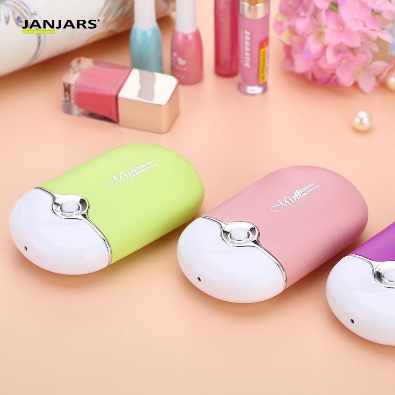 home travel Hanging stand charging battery operated portable rechargeable hand held nail polish eyelash eyelashes mini fan