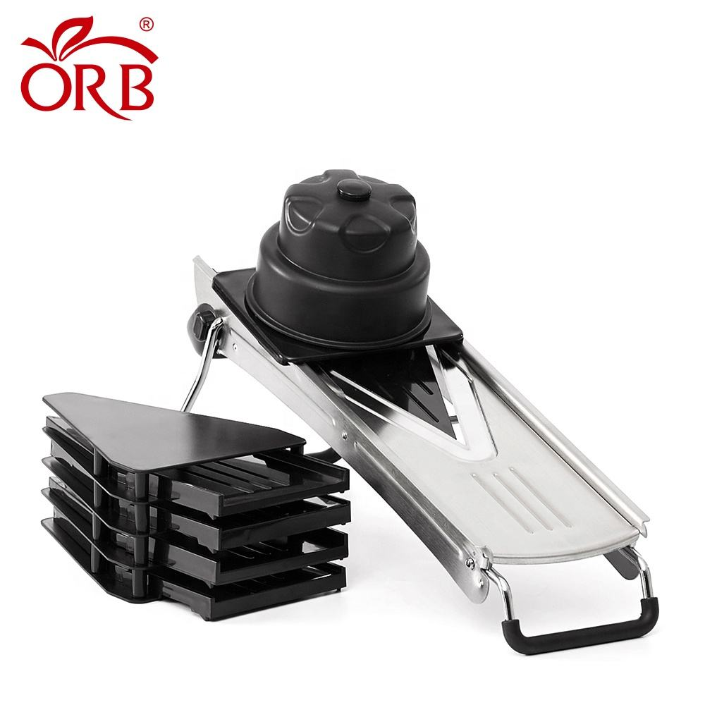 Free sample efficient multi-blades commercial vegetable cutter mandoline super food slicer
