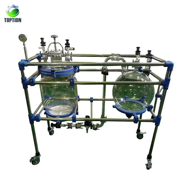 TOPTION 50L Chemische CBD Olie Extract Glas Filter Vacuüm Zuig Filter