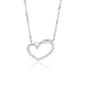 Women Fashion 925 Sterling Silver Heart Necklace