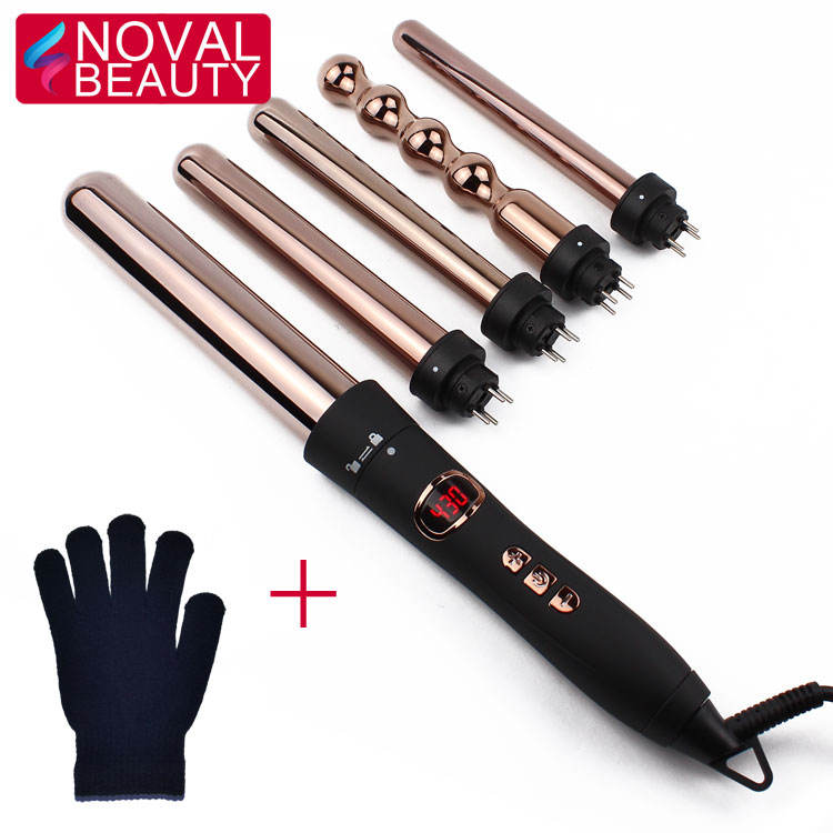 Ceramic / Titanium Easy Use Curling Iron Rollers Professional Automatic Hair Curler