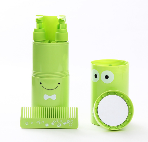 OEM Creative Plastic Reusable Outdoor Bathroom 5-8 Sets Travel Toothbrush Kit Cup Tooth Mug