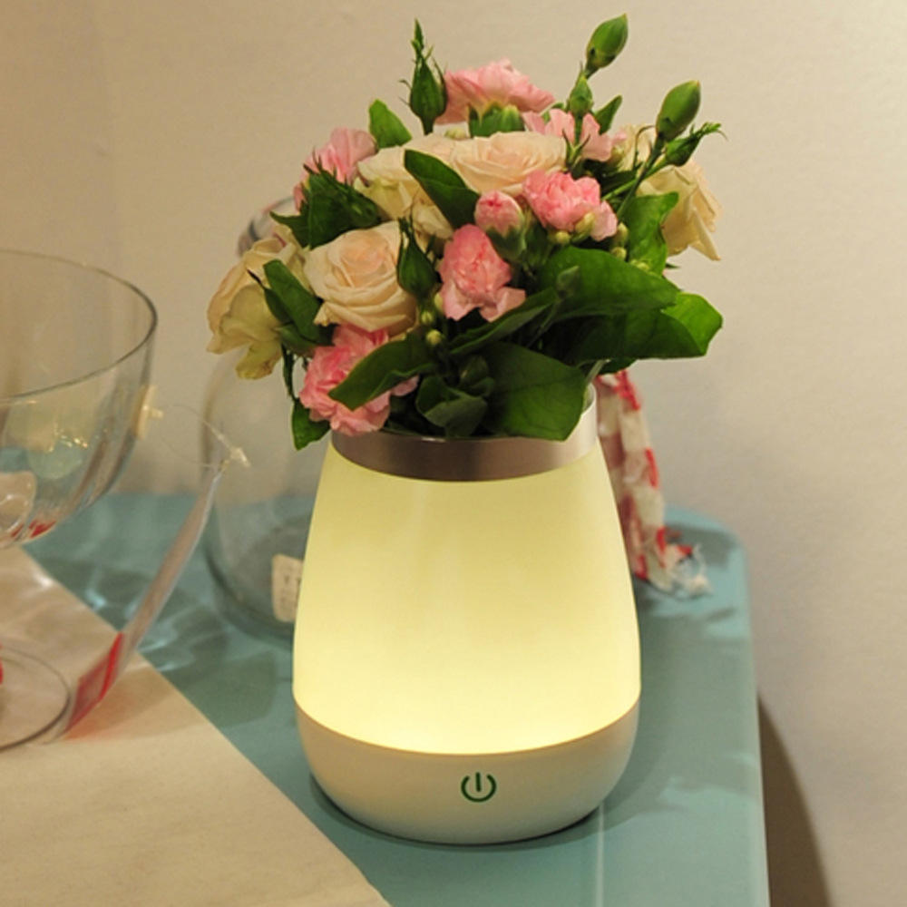 Hotel Restaurant Decoration Items USB Rechargeable Vase LED Table Lamp