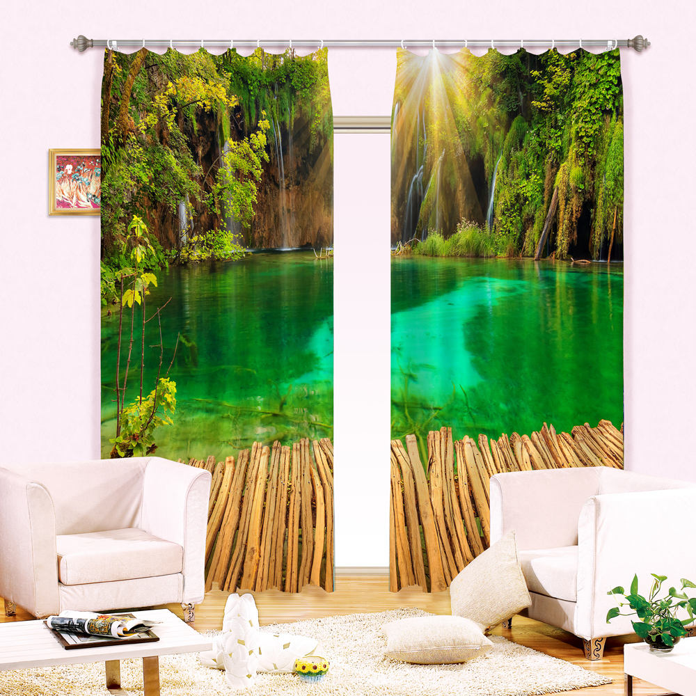 Custom 3d digital printed curtain printed blackout curtain for hotel used