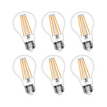 Warm color E26 Medium Base lamp 6W 2700k A19 Dimmable Vintage ST64 Filament Edison LED Bulb for Decorate Home Restaurant