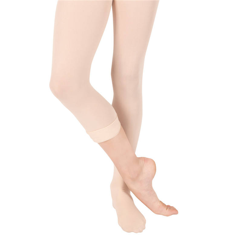 Professional High Quality Free Sample Kids Girls Convertible Ballet Tights