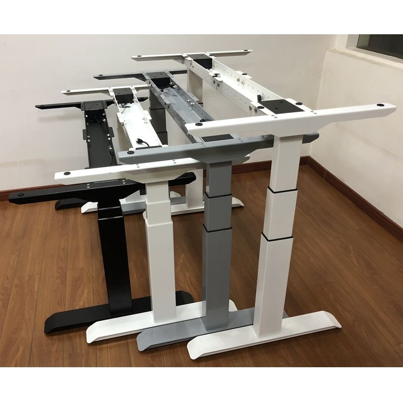 Smart furniture Wholesale Height Adjustable Metal Table Base stand-up Desk and Solutions Frame Linear Actuator