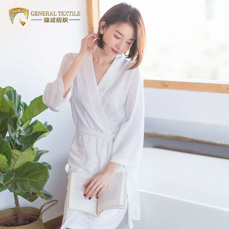 Low MOQ Spa Colored Waffle Bathrobe for Home Use