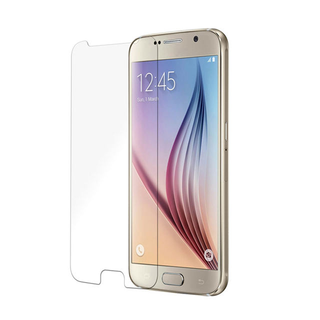 Anti-spy clear silicone mobile phone Premium tempered glass screen protector for samsung galaxy s6