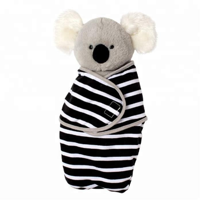 Fashion Baby Koala Bear Plush Stuffed Animal Toy with Swaddle Blanket