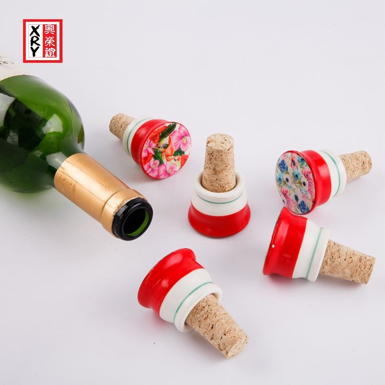 Ceramic Wholesale Personalize Custom Craft Wine Stopper