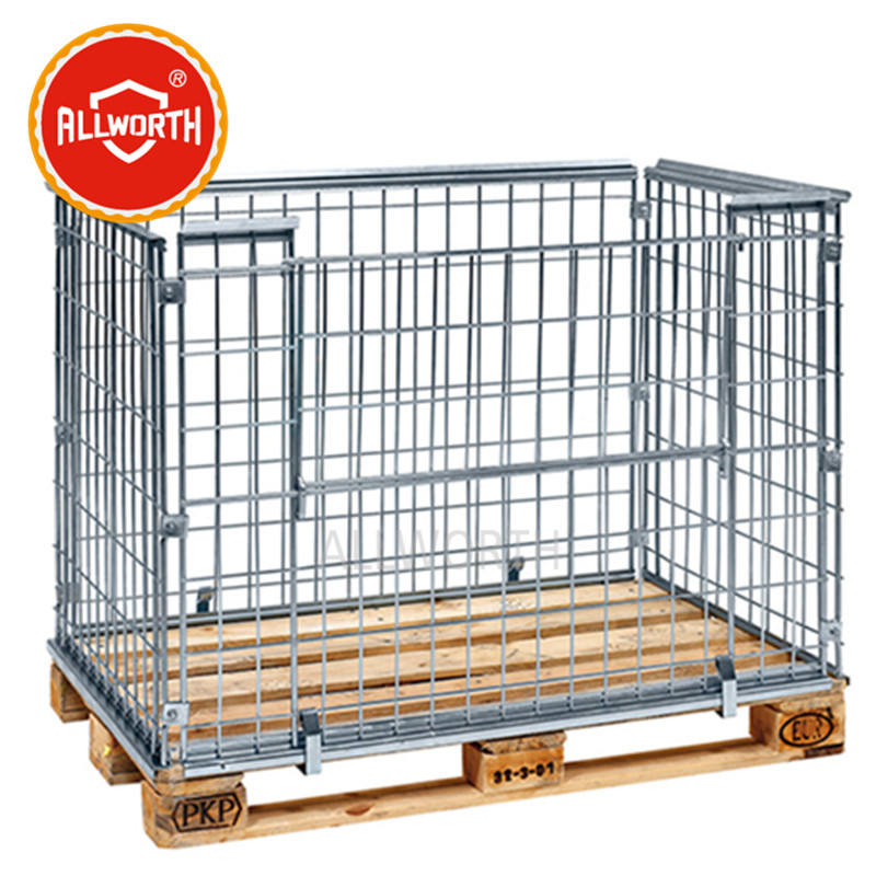 Stainless Steel Wire Mesh Cage Pallet Cage, Retention Unit