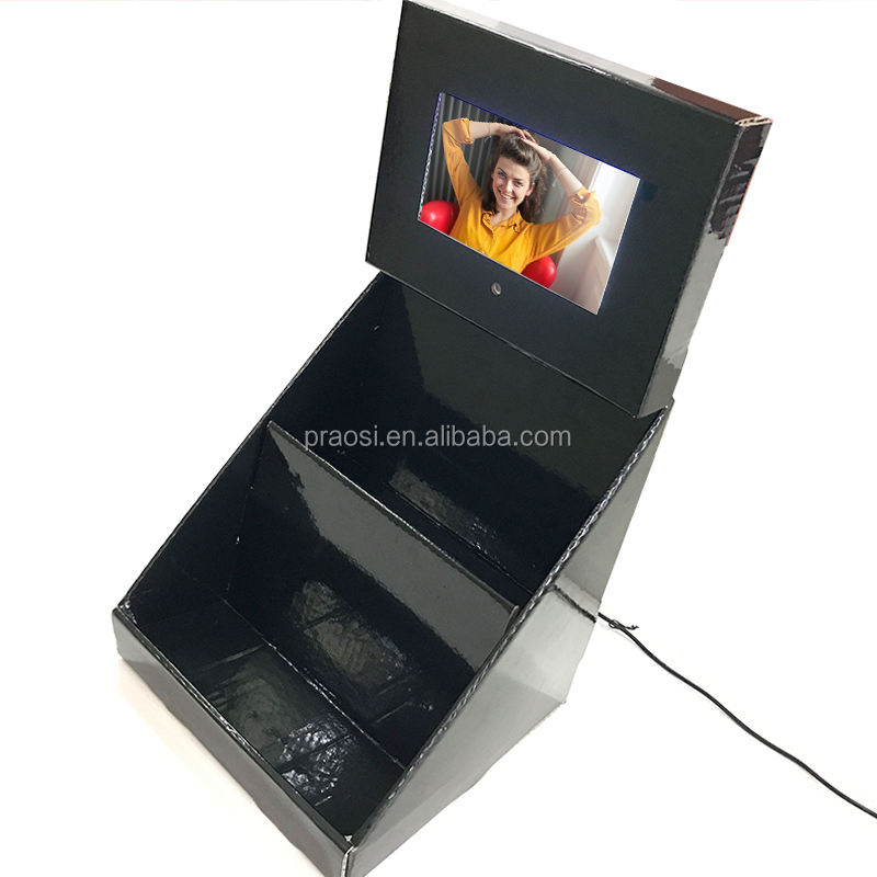 2018 new POP video shelf/stand photo display/carboard display digital frame 7 8 10 12 inch