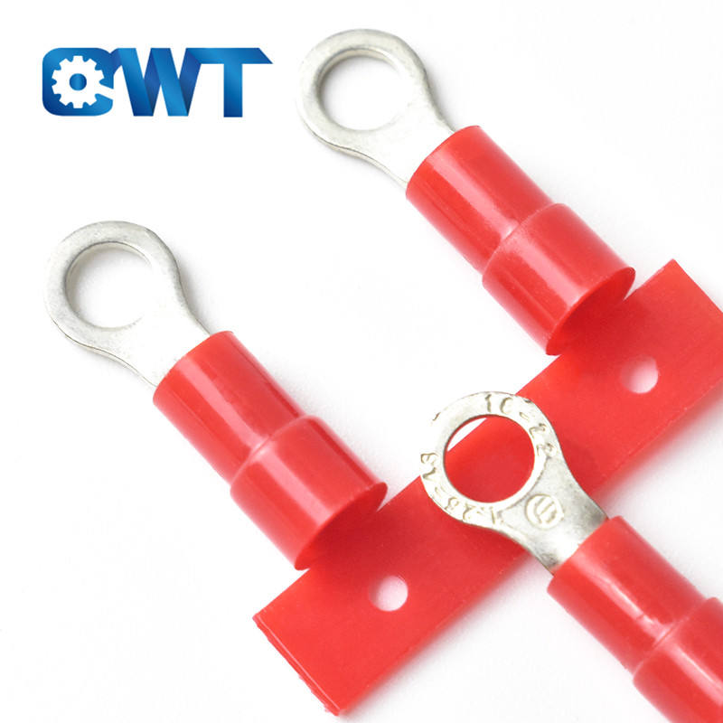 QWT Circular solderless crimp terminal Stud 3mm 4mm 5mm 6mm 8mm 10mm RV ring type continuous Pre insulated terminal