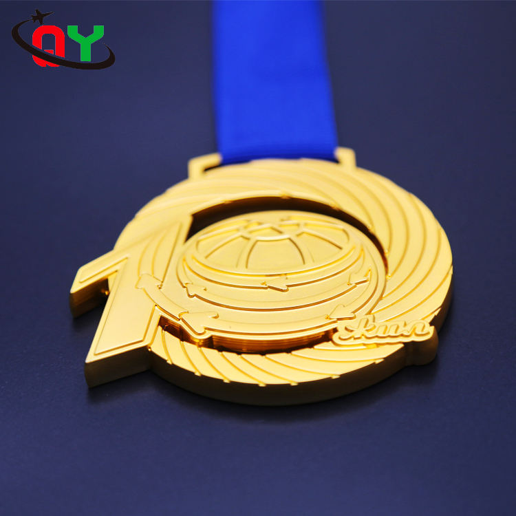 Free design custom metal gold silver copper running sports award medal