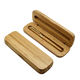 Hot selling bamboo custom natural wood box wooden pen box single pen bamboo box for gift packaging