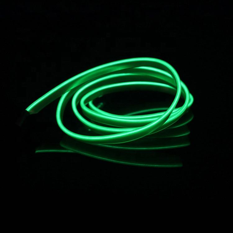 12V Auto Car Interior LED EL Wire flexible neon light glow el wire led strip for car interior