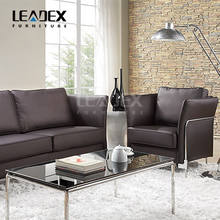 Top selling stainless steel legs PU leather office furniture sofa