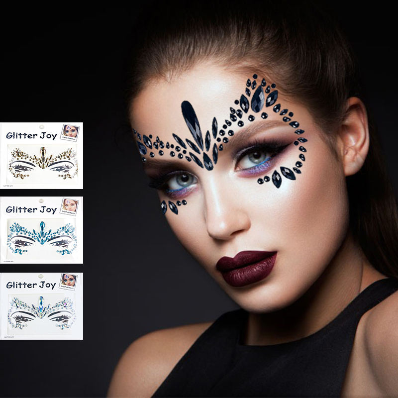 Huid Veilig Party Eye Stickers Gezicht Gems Rhinestone Body Juwelen Gezicht Tattoo Stickers