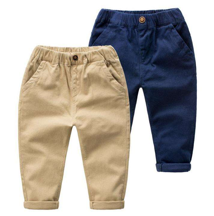 Online Wholesale Kids Child Clothes Cheap Korean Custom Pants Trousers For Boys