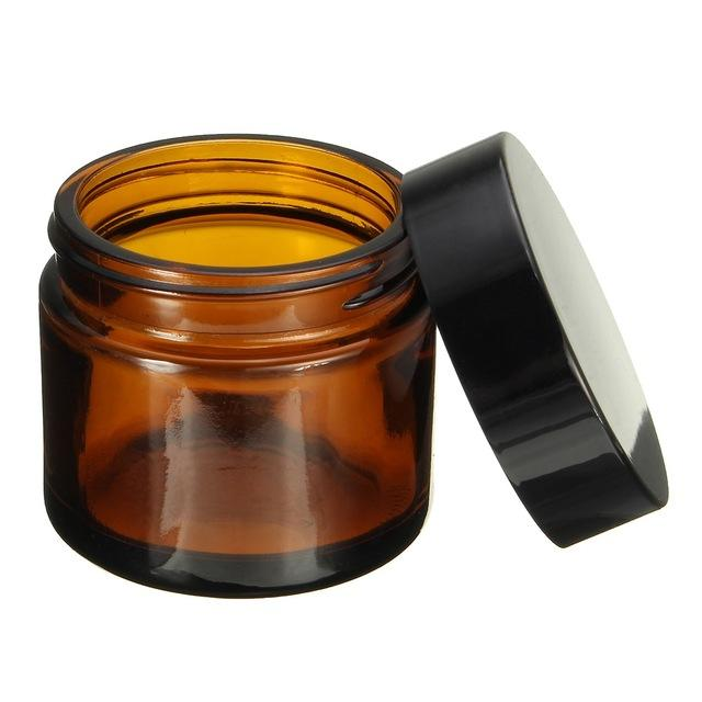30ml 50ml 100ml amber clear white frosted empty face eye cream glass cosmetic bottle cream jar suppliers