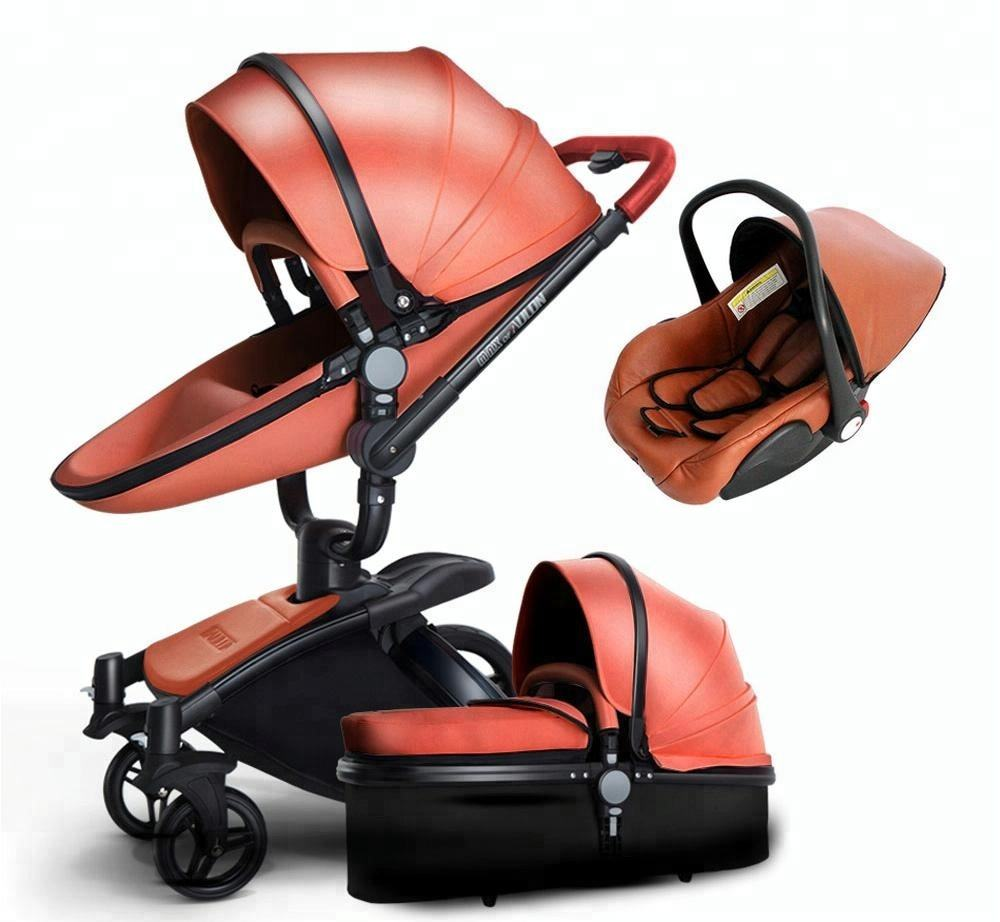 360 Degree free Rotation 3 in 1 Baby Stroller kinderwagen