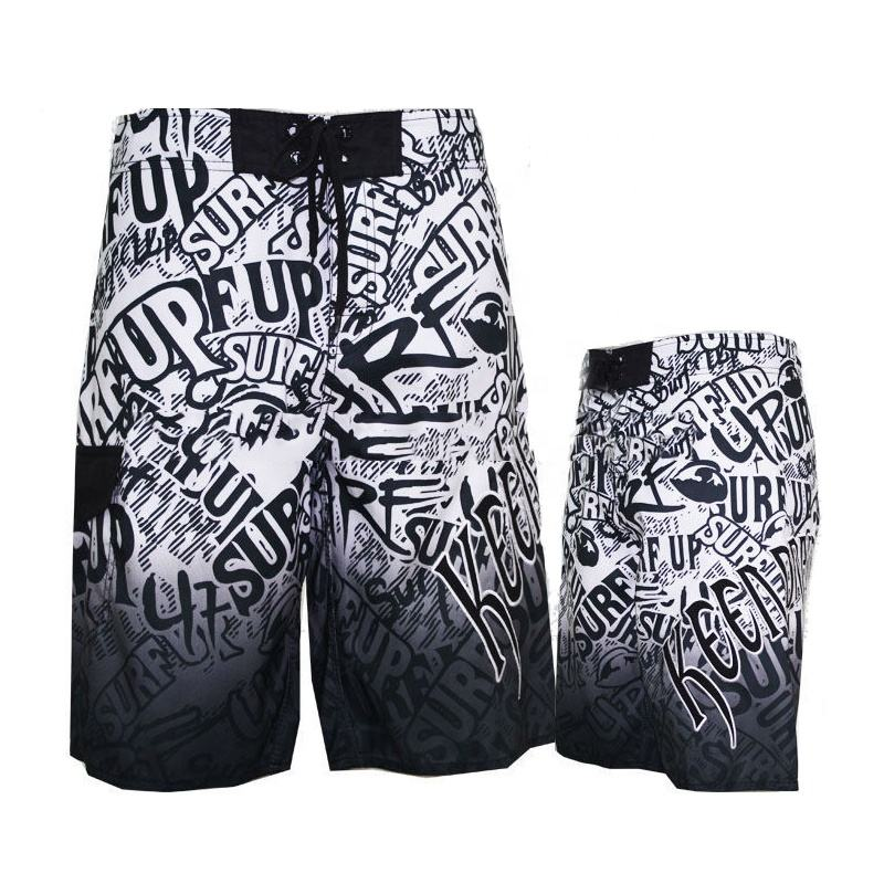 Polyester 4 Way Stretch Custom Printed Men Stretch Wholesale Boardshorts