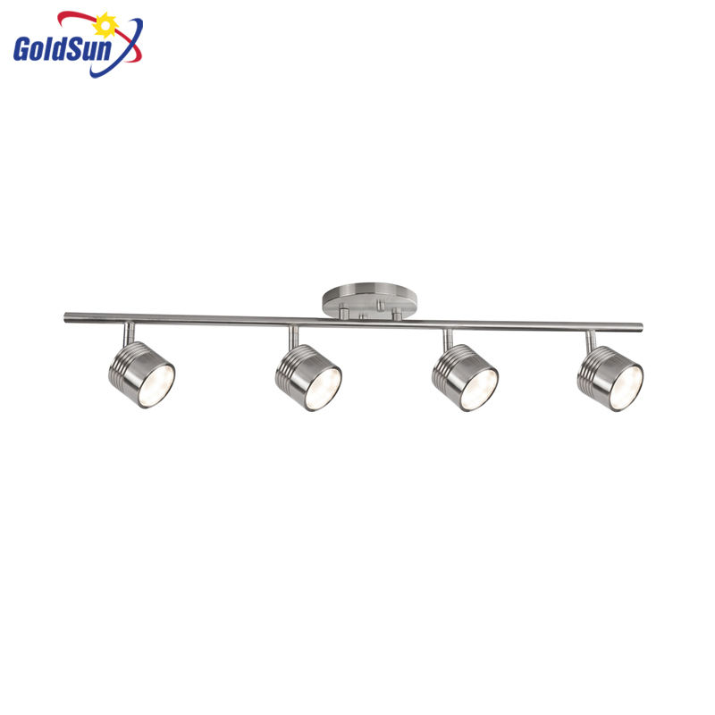 COMMERCIAL TRACK LIGHT 4 LIGHTS MODERN 20W COFFEE SHOP BRUSH NICKEL LED TRACK LIGHT FIXTURES