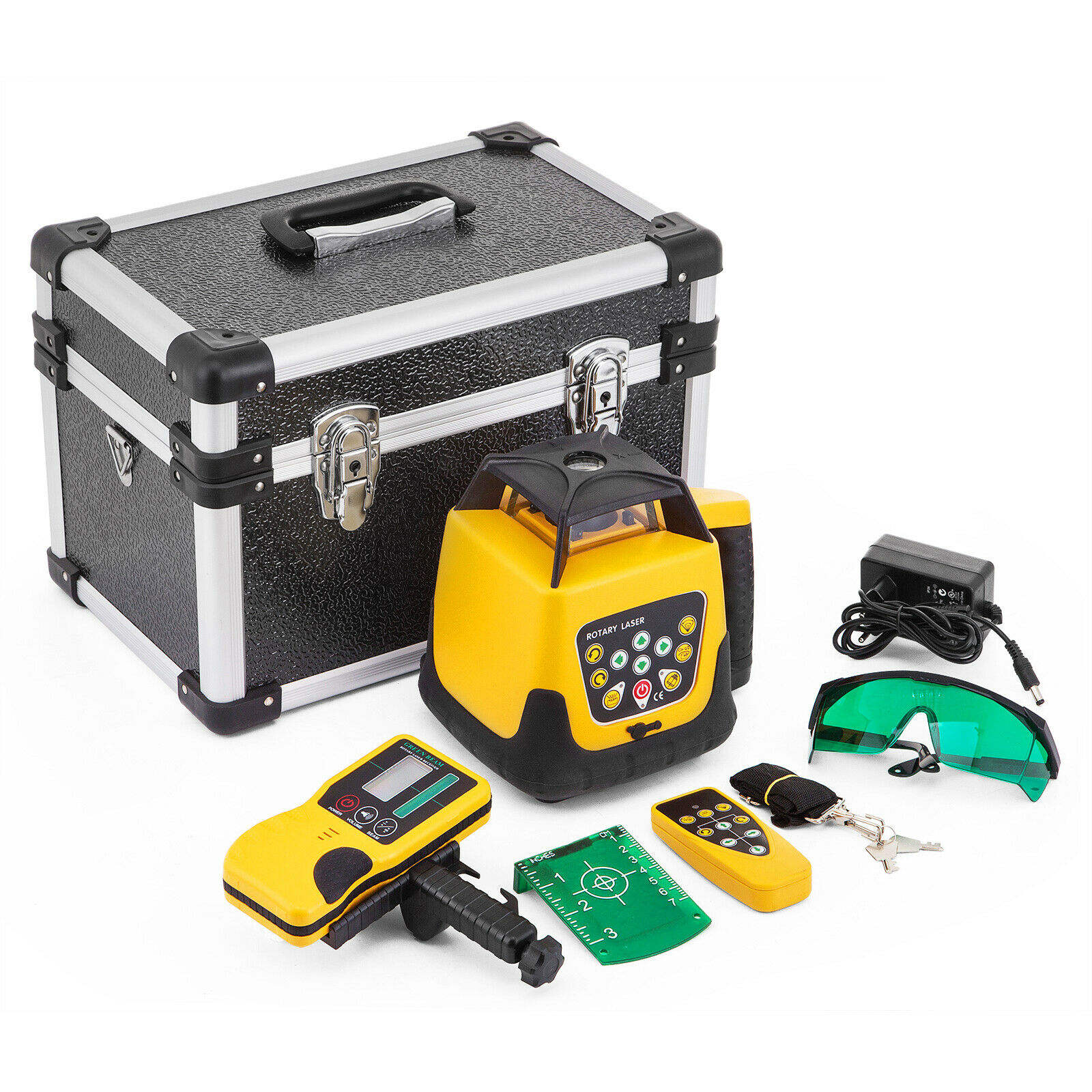 Green Laser 500m Line Self Leveling 360 Rotary Laser Level Construction Automatic Rotating Laser Scales Yellow Color