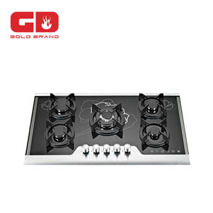 Built-in Gas Cooker/Tempered Glass Gas Stove 5 burners glass top built-in gas hob