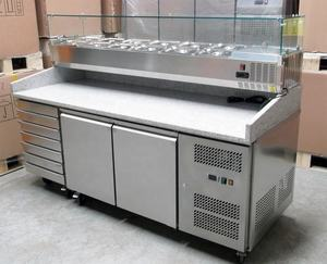 Wholesale Professional Stainless Steel Pizza Prep Table Refrigerator/Refrigerated Pizza Counter Chiller