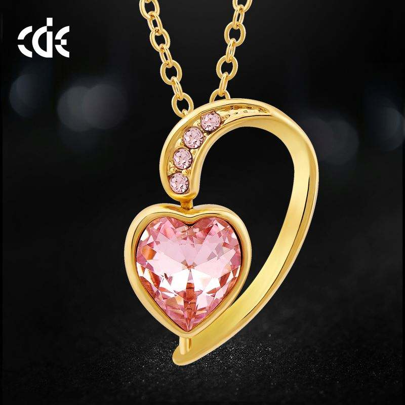 pingentes de pedra colorida Custom Alloy Rotating Heart Necklace Pendant