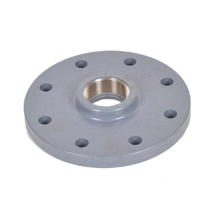 UPVC PVC Plastic Pipe Fitting Blind Flange Adapter With Rubber Ring