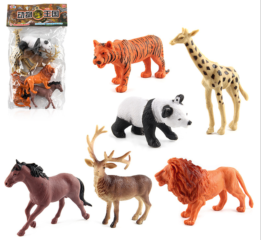 Animal Kingdom 6 in 1 Forest King Animal Figure Toys