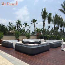 Mr Dream comfortable modern 5 star hotel cast aluminum rattan wicker sectional outdoor couch