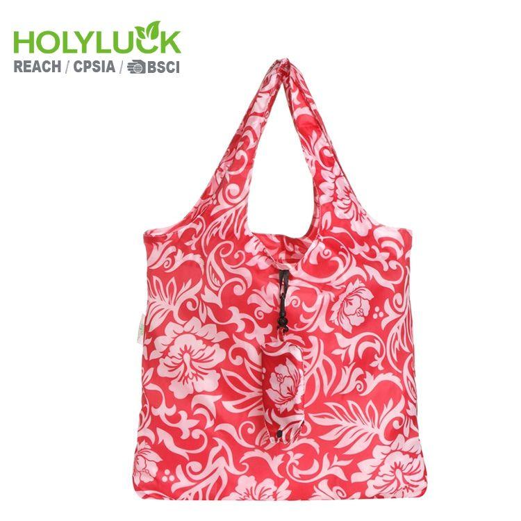 Pretty Yeniden Bakkal Ruh Shopper Kırmızı Logo Ile <span class=keywords><strong>Alışveriş</strong></span> Katlanır Küçük Tote Çanta