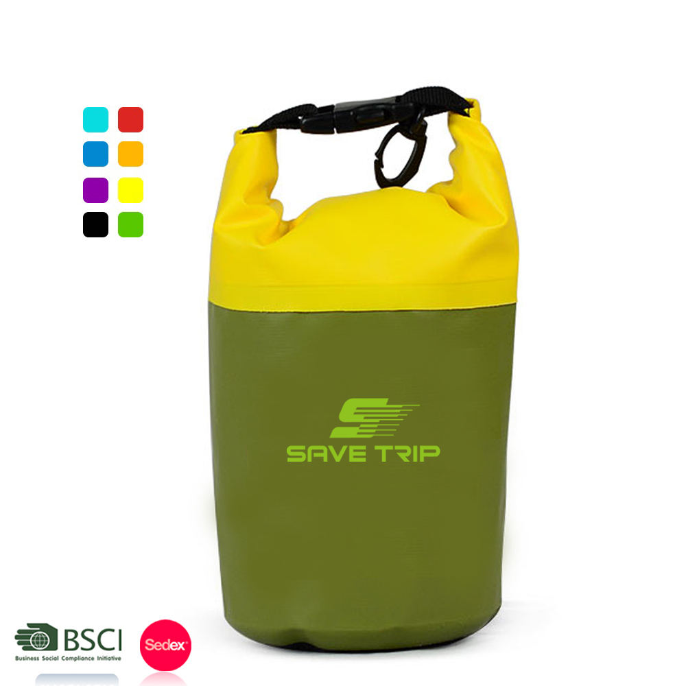 Outdoor Sports Equipment Camping Hiking Drifting Professional IPX6 New Design Stitched Waterproof Dry Bag Mini 2L 3Lfor Swimming