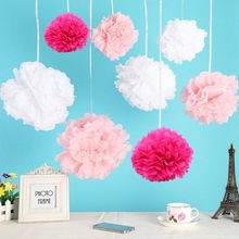 Wholesale Hanging Birthday Party Favors Tissue Paper Pom Poms Flower Balls