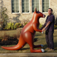 Attractive giant inflatable kangaroo inflatable animal cartoon for advertising