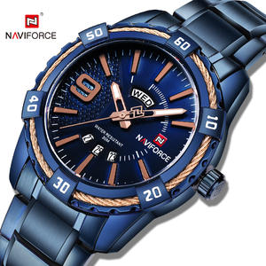 navy force 2019 hot selling NAVIFORCE 9117 reloj luxury wrist stainless steel watch Fashion Casual Waterproof wristwatches
