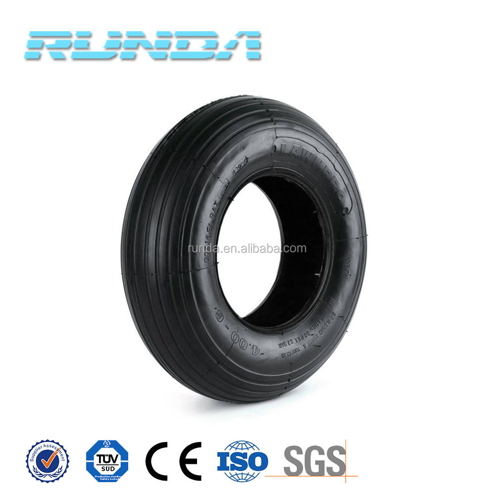 good rubber material wheel barrow tire and tube 4.00-6
