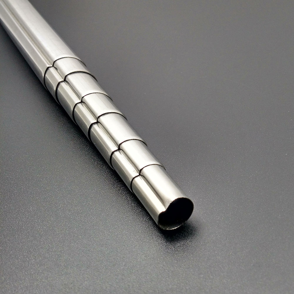 OEM Stainless Steel telescopic hollow tube with single groove
