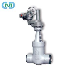 WCB Class 1500 Electric Actuator Rising Stem Butt Weld Gate Valve for Power Station